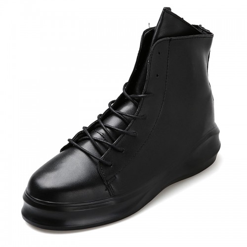Hidden Heel Elevator Ankle Boots for Men