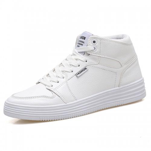 white Height Increasing Sneaker