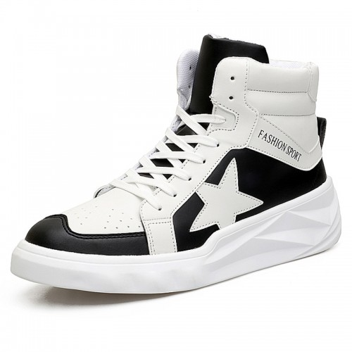 High Top Altitude Fashion Sneaker 3.2inch / 8cm Height Increasing Walking Shoes