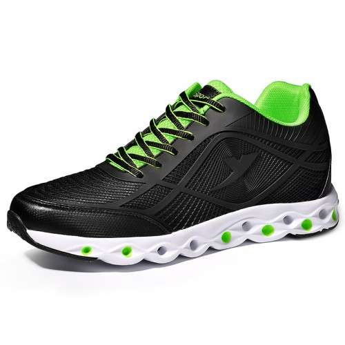 Stylish Elevator Athletic Shoes Black 6cm / 2.4inch Height Increasing Running Shoes