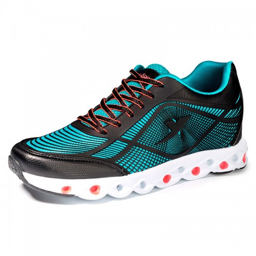 Stylish Elevator Athletic Shoes Blue 6cm / 2.4inch Taller Running Shoes