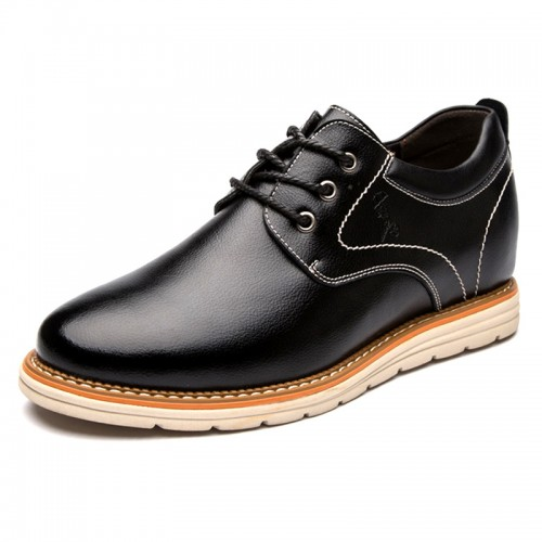 All Match Men Taller Shoes Black Height Increasing Business Casual Shoes Add 3.2inch / 8cm