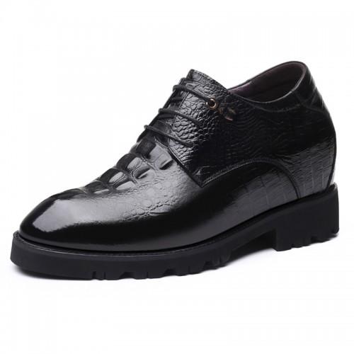 4 inch Elevator Men Formal Shoes Alligator Pattern Height Dress Shoes Add Taller 10cm