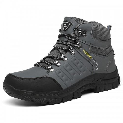 Elevator Hiking Shoes for Men Add Taller 7.5 cm / 3 inch Gray Hidden Lift Outdoor Shoes