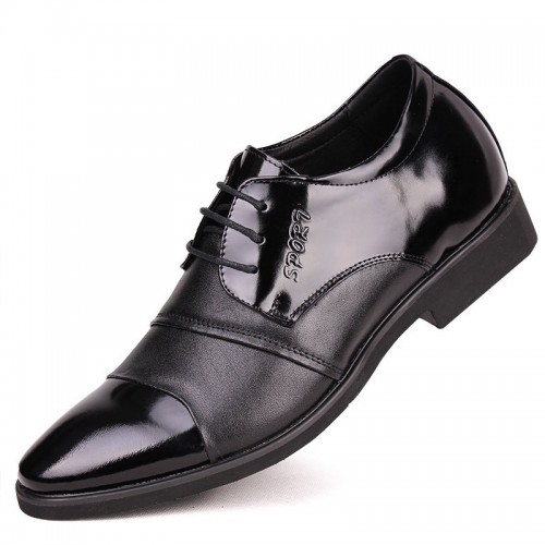 Taller 7cm / 2.75inches UK dress elevator shoes men business fashion breathable Genuine leather height shoes