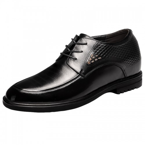 Extra Height Increase Wedding Shoes 4inch black taller tuxedo shoes