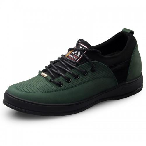 fashion height increasing men casual shoes lace-ups walking shoes