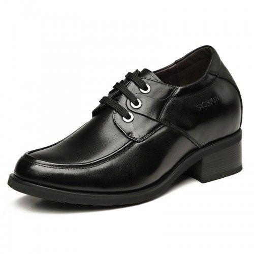 Cow leather height elevator dress shoe increasing 8cm / 3.2inches taller business shoes