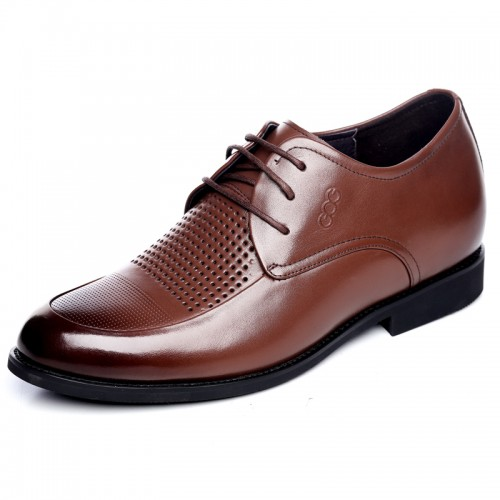 Hidden heel lace up dress sandals for men elevator oxfords
