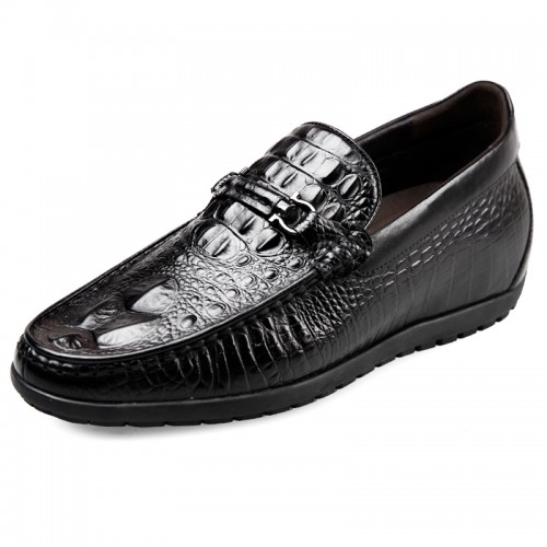 2017 Alligator Crocodile Print Elevator Loafers taller 2.4inch