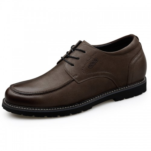 Khaki Elevator Casual Oxford for Men Taller 2.6inch / 6.5cm Nubuck Business Shoes