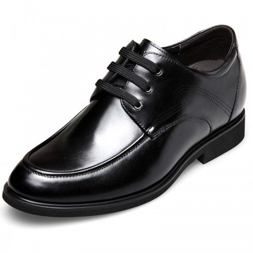 Breathable height increasing casual business shoes 2.6inch / 6.5cm Black