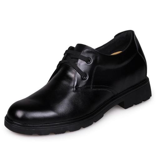 Handmade cow leather height increasing shoes 7cm / 2.75inches men's low heel oxfords