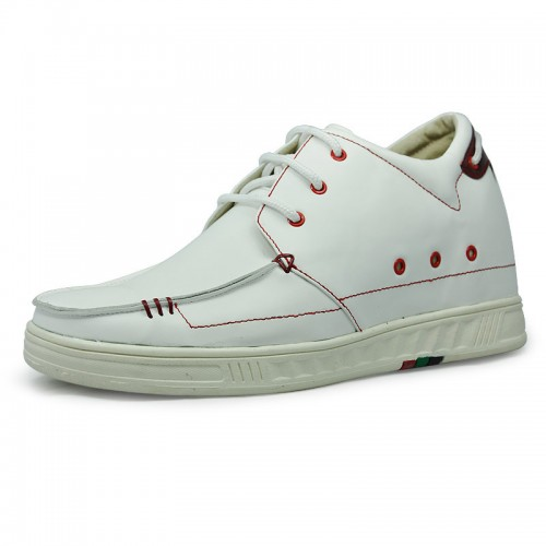 White&Black eyes men increase height sports shoes grow tall 7cm / 2.75inches