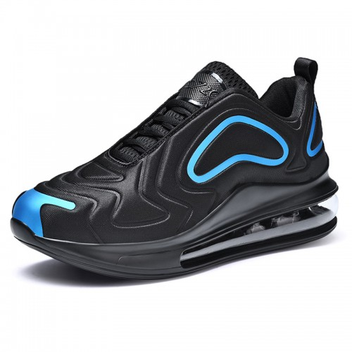 2019 Black Height Elevator Basketball Shoes for Men Add Taller 2.8inch / 7cm Air Cushion Training Shoes