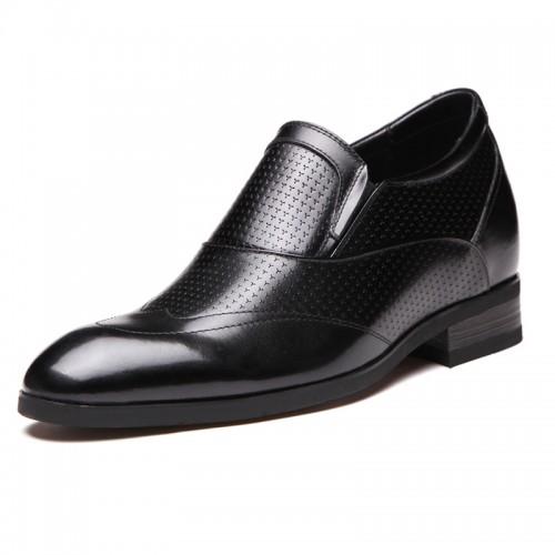 Superior elevator wedding shoes 6.5cm / 2.6inch slip on groom tuxedo shoes