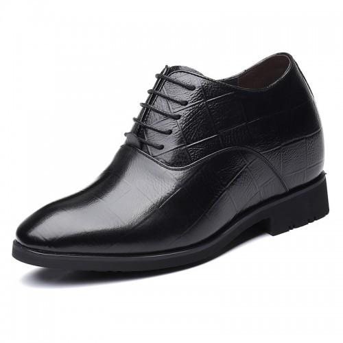 4 inch Men Elevator Oxfords Premium Cowhide Height Increasing Business Shoes Gain Taller 10cm