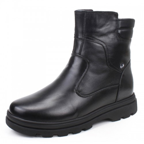 Men height increasing warm shoes make you taller 6.5cm / 2.56inches elevator boots for winter