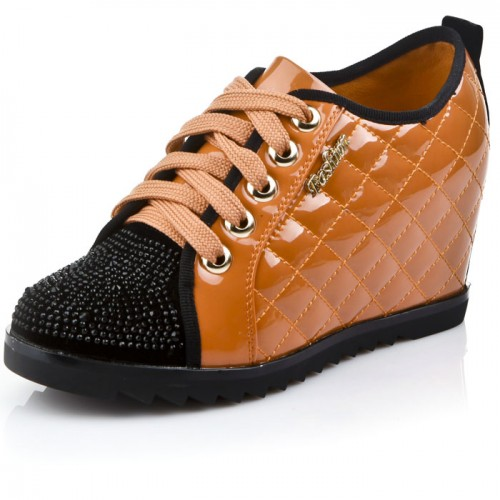 sweet diamond elevator shoes women platform shoes look taller 8cm  / 3.15inches height increasing shoes