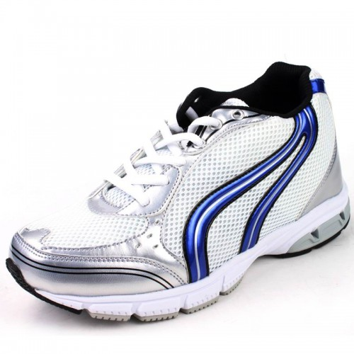 7cm/2.75inchs white sports elevator Shoes / Tennis height increase Mesh Ventilated