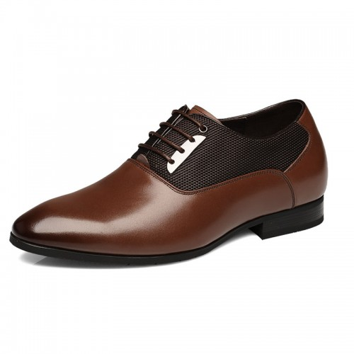 UK men's elevator wedding shoes get taller 7cm / 2.75inches height increasing business shoes