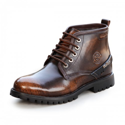 Retro wiping color elevator martin boots tall 7cm / 2.75 inches tooling boots cowboy boots short military boots