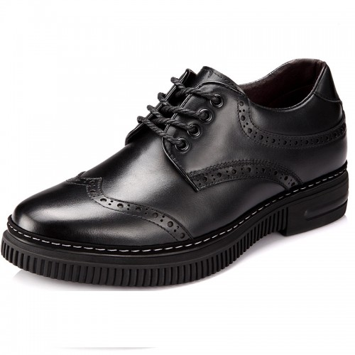 Fashion elevator shoes to make you look taller 8cm / 3.15inches height increasing dress shoes