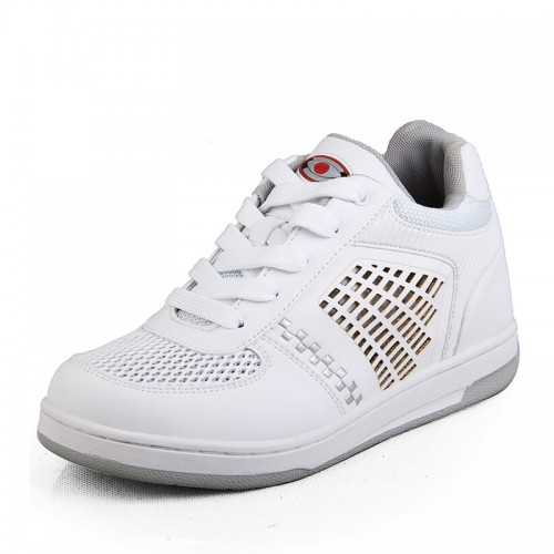 white height increasing shoes sneakers elevator shoes with 6.5 cm / 2.56 inch taller