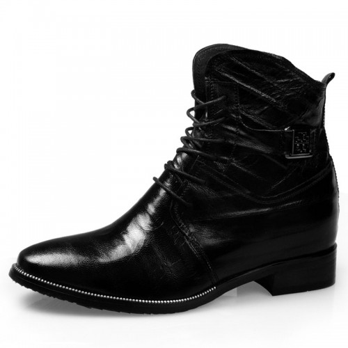 Britpop elevator arena boot for men increase height 8cm / 3.15inches tall tide cowboy boots