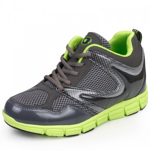 Men's invisible increase breathable mesh of sports shoes add height 7.5cm / 3inch ultra-light casual shoes
