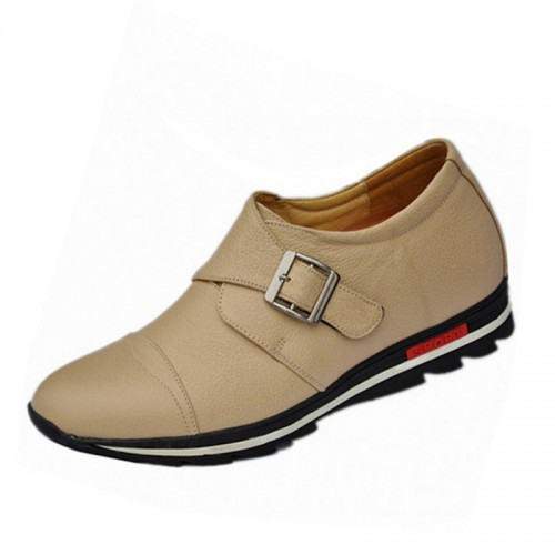 winter soft-soled casual elevator shoes grow taller 7cm / 2.75inches height increasing shoes