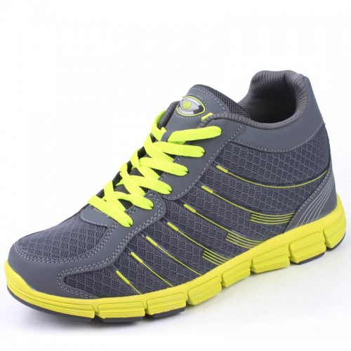 breathable mesh height increasing running shoes give you taller 8cm / 3.15inches elevator sports shoes