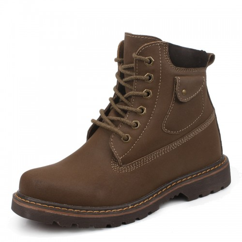 Best wool taller boots for men get taller 8cm / 3.15inches height increasing padded boots