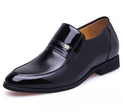British gentleman elevator dress shoe get taller 7cm / 2.75inches height increasing wedding shoes