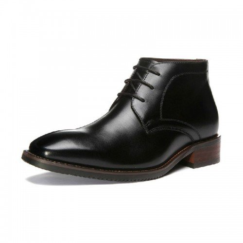 UK keep warm winter height increasing boots for men that make you tall 7cm / 2.75inches leather elevator dress shoes