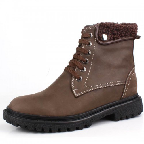 Winter men elevator causal boots get taller 6.5cm / 2.56inches height increasing cotton-padded shoes