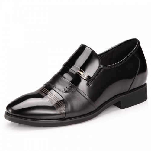 Perfect UK men's height increasing shoes can be taller 7cm / 2.75inches business elevator taller shoes