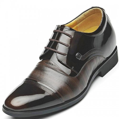 High quality elevator dress shoes that add height 7cm / 2.75inches men taller business shoes