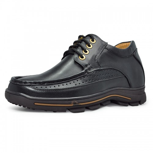 Black men height increase casual shoes become taller 8cm / 3.15inches