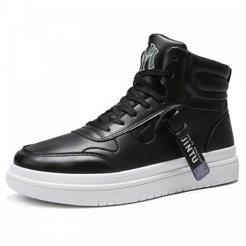 3 inch height increasing Fashion Sneakers Hidden Height High Top Skate Shoes