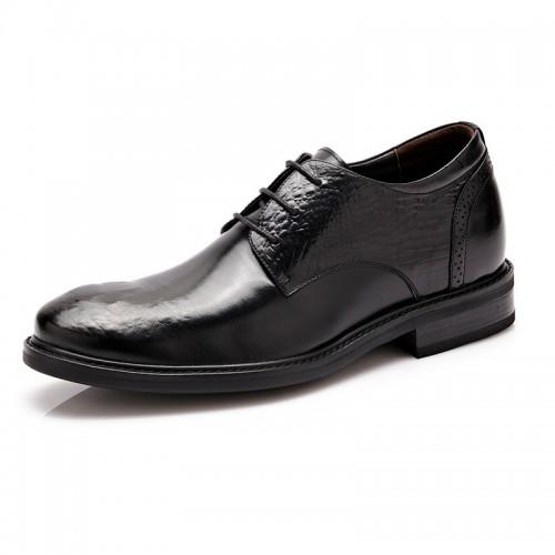 Fashion elevator business shoes 6cm / 2.36inch black taller derbies