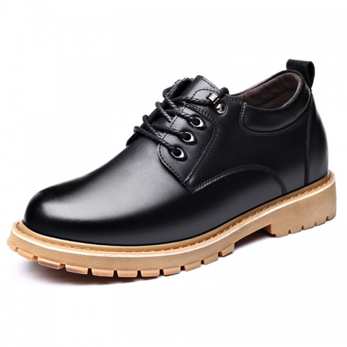 Spacious Toe Elevator Casual Shoes Black Outdoor Work Shoes Increase Taller 3.2 inch / 8 cm