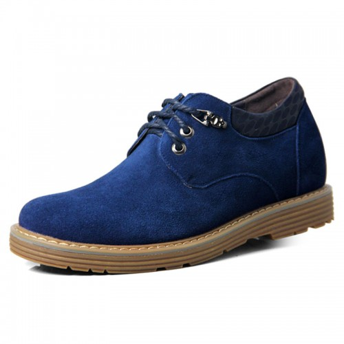Blue spacious toe shoes that make you look taller 6.5cm / 2.56inches working increasing casual shoes