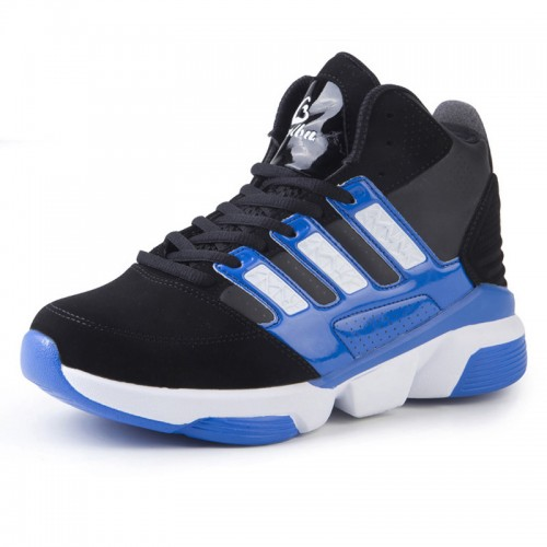 Elevated basketball shoes height increasing 8cm / 3.2inch blue sports shoes