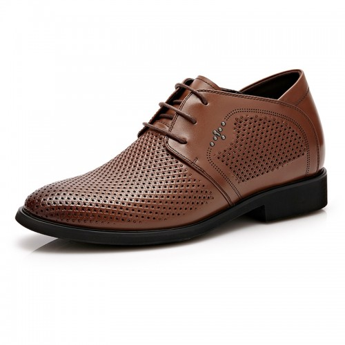 UK breathable taller dress sandals 6cm / 2.36inch black men height increasing shoes