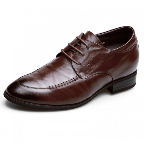 Lambskin elevator dress shoes for men