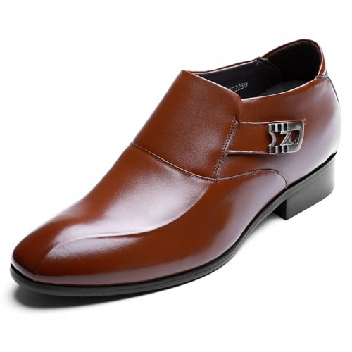 British Elevator Formal Loafers Slip On Height Business Dress Shoes