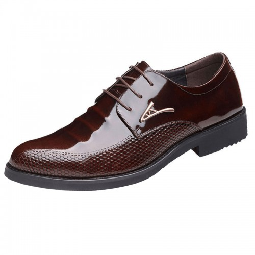 British  lace up groom tuxedo shoes get taller 3.2inch