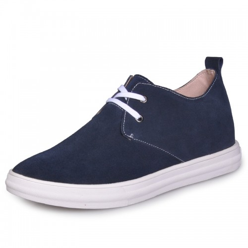 Blue British add taller shoes elevator board shoe for extra height 6cm / 2.36inches