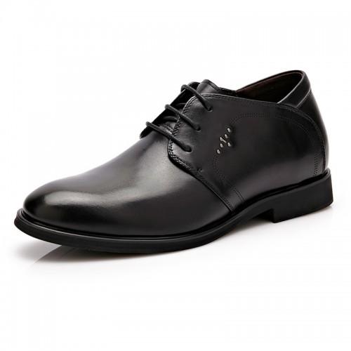 British bridegroom wedding shoes height increasing 6cm / 2.36inch black oxfords